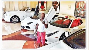 Floyd Mayweather boxeur americain collection voiture