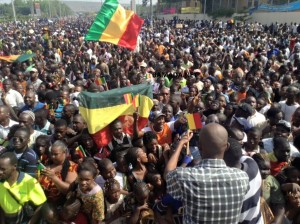 marche manifestation foule protestation liberation nord mali